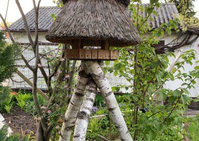 Vogelhaus mit Reet